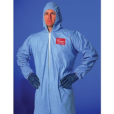Dupont™ Tempro® TM127S Chemical Protective Coverall, Light Blue, 3X-Large
