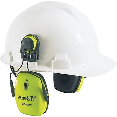 Howard Leight by Honeywell® Leightning® 1015020 Hi-Visibility Cap-Mounted Earmuff, 23 db
