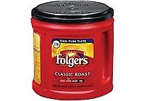 Folgers® Classic Roast Ground Coffee, Regular, 33.9 oz. Can