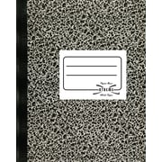 National® Brand Composition Notebook, Black, 7-7/8 x 10