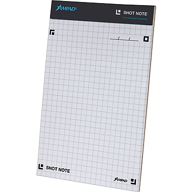 Ampad® Shot Note® Writing Pad, Graph Ruled, 40 Sheets/Pad, 5in. x 8in.