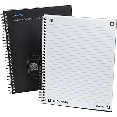 Ampad® Shot Note® Spiral Notebook, Medium Ruled, 9 1/2in. x 7 3/4in., 60 Sheets