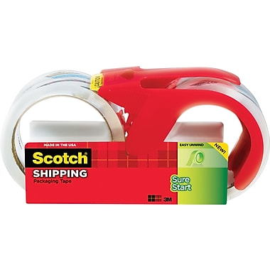 Scotch® High-Performance Sure-Start Packaging Tape, Clear, 1.88in. x 38.2 yds, 2/Pack