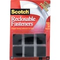 Scotch® Reclosable Fasteners, 7/8in. Squares, Black