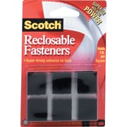 Scotch® Reclosable Fasteners, 7/8 Squares, Black