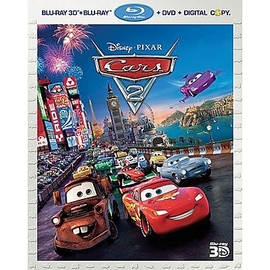 Cars 2 3D (Blu-ray + DVD + Digital Copy)