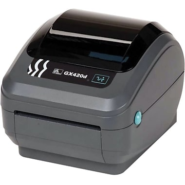 Zebra® GX42-202410-000 Direct Thermal Desktop Label Printer, 203 dpi (8 dots/mm)