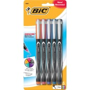 BIC® Intensity Permanent Pens, Fine Point, Assorted Fashion Colors, 5/Pack