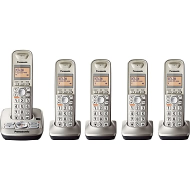 Panasonic KT-TG4225N DECT 6.0 5 Handset Cordless Telephone with Caller ID/Call Waiting/Digital Answering System