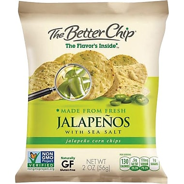 The Better Chip, Jalapeno and Sea Salt, 10 Bags/Box