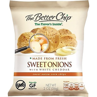 The Better Chip, Sweet Onion and White Cheddar, 10 Bags/Box