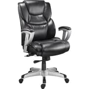 Staples® Denville™ Bonded Leather Big & Tall Manager's Chair, Black