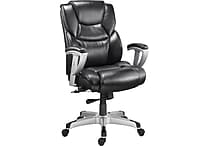 Staples Denville Bonded Leather Big and Tall Manager's Chair, Black