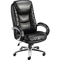 Staples Westerly Bonded Leather Managers Chair (Black)