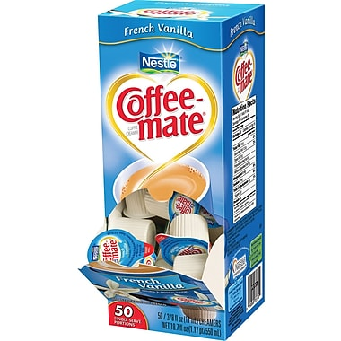Nestlé Coffee-mate Liquid Coffee Creamer Singles, French Vanilla, 50/Box