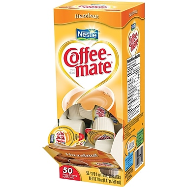 Nestlé Coffee-mate® Liquid Coffee Creamer Singles, Hazelnut, 50/Box