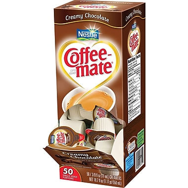 Coffee-mate® Liquid Coffee Creamer Singles, Creamy Chocolate, 50/Box