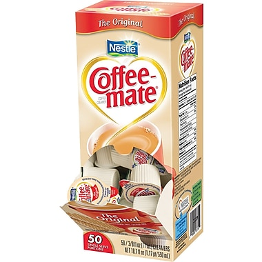 Coffee-mate Liquid Coffee Creamer Singles, Original, 50/Box