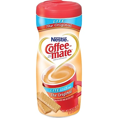 Coffee-Mate® Non-Dairy Powder Creamer, Lite Original, 11 oz. Canister