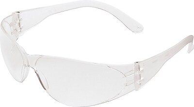 MCR Safety CL010 Checklite Safety Glasses with Clear Frame and Clear Lens