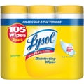 Lysol Disinfecting Wipes, Lemon and Lime Blossom Scent, 3 Pack