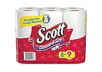 Scott® Mega Roll Paper Towel Rolls, 1-Ply, 6 Rolls/Pack