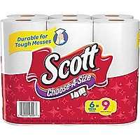 6-Pack Scott Choose-A-Size Mega Roll Paper Towels