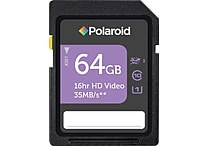 Polaroid 64GB SDXC UHS-1, CL10 35MB/sec
