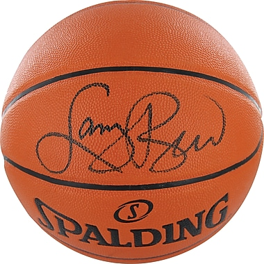 Larry Bird Hand Signed Indoor/Outdoor Basketball