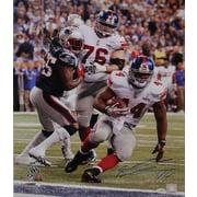 Ahmad Bradshaw Hand Signed Super Bowl XLVI Game Winning TD Photo 16x20