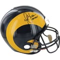 Marshall Faulk St. Louis Hand Signed Rams Helmet with in.HOF 20XIin. inscribed
