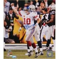 Eli Manning Super Bowl Hand Signed XLVI Celebration Photo 8x10