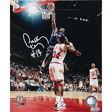Anthony Mason Hand Signed Slam Dunk Photo  8x10