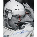 Mark Messier Black/White Hand Signed Photo 8x10