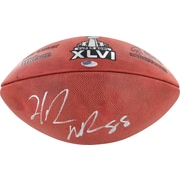 Hakeem Nicks Hand signed Super Bowl XLVI Football