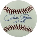 Pete Rose Hand Signed MLB Baseball with in.4256in. Inscribed