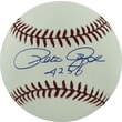 """Pete Rose Hand Signed MLB Baseball with """"4256"""" Inscribed"""