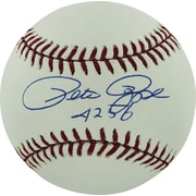 "Pete Rose Hand Signed MLB Baseball with ""4256"" Inscribed"