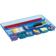 Officemate® Blue Glacier Drawer Tray, 9 Compartments