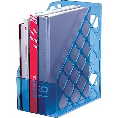 Officemate® Blue Glacier Magazine File