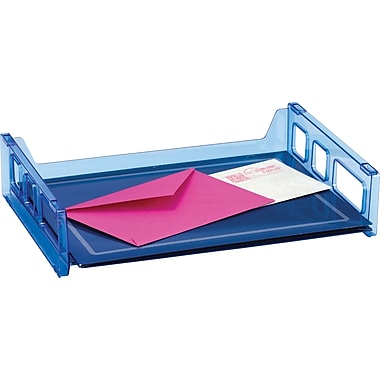 Officemate Blue Glacier Side Load Letter Tray