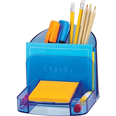 Officemate Blue Glacier Deluxe Desk Organizer