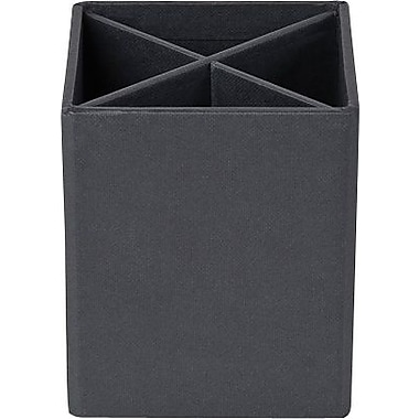 Bigso Pencil Cup with Dividers Dark Grey