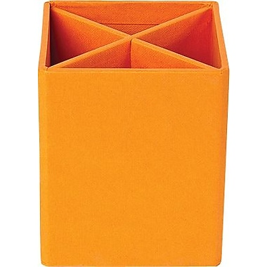 Bigso Pencil Cup with Dividers Orange