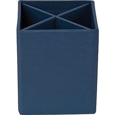 Bigso Pencil Cup with Dividers Navy Blue