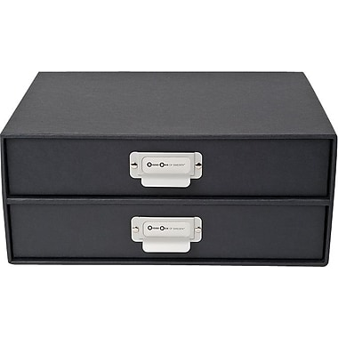 Bigso Birger 2 Drawer Chest Dark Grey