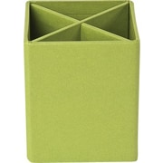 Bigso Pencil Cup with Dividers Green