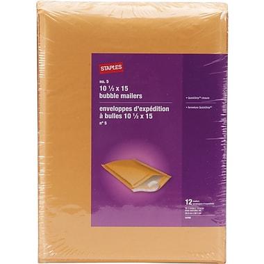 Staples® Self-Sealing Bubble Envelope #5, 10-1/2