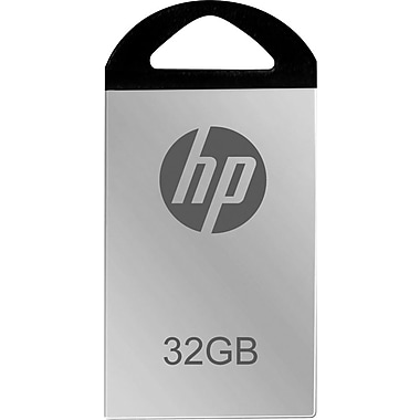 HP - 32GB USB 2.0 USB Flash Drive (Mirrored Silver)