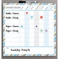 Quartet® Dry Erase, Magnetic, Children's Chore Chart, Frameless, 11.75in. x 11.75in.